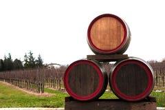 βαρέλια τρία κρασί Στοκ εικόνα με δικαίωμα ελεύθερης χρήσης