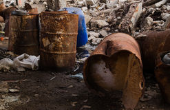 βαρέλια χημικών ουσιών Στοκ εικόνα με δικαίωμα ελεύθερης χρήσης