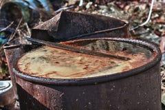 Βαρέλι με τα τοξικά απόβλητα στοκ φωτογραφία