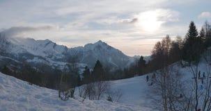 Βαρίδι χειμερινών βουνών απόθεμα βίντεο