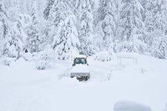 βαριά θύελλα χιονιού αφαί&r στοκ φωτογραφίες με δικαίωμα ελεύθερης χρήσης