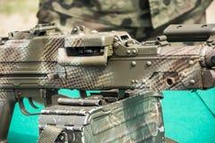 βαριά μηχανή πυροβόλων όπλω&nu Στοκ εικόνες με δικαίωμα ελεύθερης χρήσης