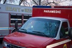 βαριά οχήματα πυρκαγιάς υ& Στοκ εικόνες με δικαίωμα ελεύθερης χρήσης
