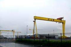Βαριές βιομηχανίες Harland & Wolff, Μπέλφαστ, Βόρεια Ιρλανδία Στοκ Εικόνες