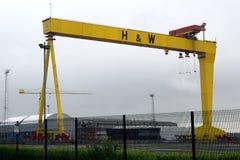 Βαριές βιομηχανίες Harland & Wolff, Μπέλφαστ, Βόρεια Ιρλανδία Στοκ Φωτογραφία