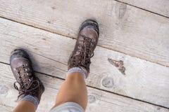 Βαριές μπότες πεζοπορίας Στοκ φωτογραφία με δικαίωμα ελεύθερης χρήσης
