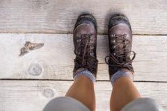 Βαριές μπότες πεζοπορίας Στοκ εικόνες με δικαίωμα ελεύθερης χρήσης