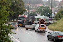 Βαριοί ελιγμοί φορτηγών έλξης Στοκ φωτογραφία με δικαίωμα ελεύθερης χρήσης
