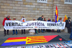ΒΑΡΚΕΛΩΝΗ, ΙΣΠΑΝΙΑ - 28 ΑΠΡΙΛΊΟΥ: Διαμαρτυρία οδών στη Βαρκελώνη στις 28 Απριλίου 2016 στη Βαρκελώνη, Ισπανία Στοκ εικόνες με δικαίωμα ελεύθερης χρήσης
