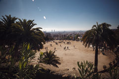 ΒΑΡΚΕΛΩΝΗ, ΙΣΠΑΝΙΑ - 23 ΑΠΡΙΛΊΟΥ 2016: Πάρκο Guell από τον αρχιτέκτονα Anton Στοκ εικόνες με δικαίωμα ελεύθερης χρήσης