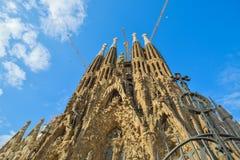ΒΑΡΚΕΛΩΝΗ, ΙΣΠΑΝΙΑ - 28 ΑΠΡΙΛΊΟΥ: Sagrada Familia εξωτερικό - Βαρκελώνη στις 28 Απριλίου 2016 στη Βαρκελώνη, Ισπανία Στοκ Εικόνες