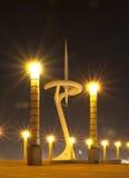 ΒΑΡΚΕΛΩΝΗ, ΙΣΠΑΝΙΑ - 12 ΑΥΓΟΎΣΤΟΥ: Πύργος τηλεπικοινωνιών τον Αύγουστο Στοκ Φωτογραφία