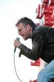 ΒΑΡΚΕΛΩΝΗ, ΙΣΠΑΝΙΑ - 11 ΙΟΥΛΊΟΥ 2014: Damon Albarn, τραγουδιστής από τη θαμπάδα και Gorillaz, εκτέλεση ζωντανή Στοκ Φωτογραφίες
