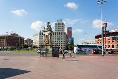 ΒΑΡΚΕΛΩΝΗ, ΙΣΠΑΝΙΑ - 17 Οκτωβρίου 2017 - Placa Espanya Βαρκελώνη, Μ Στοκ εικόνα με δικαίωμα ελεύθερης χρήσης
