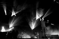 Το Moby αποδίδει στη Βαρκελώνη Στοκ φωτογραφία με δικαίωμα ελεύθερης χρήσης