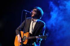 Sheff, τραγουδιστής του ποταμού Okkervil Στοκ Εικόνα