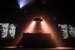 Η εξουσιοδότηση deejays αποδίδει στη υπερβολική δημόσια προβολή Στοκ Φωτογραφία
