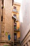 ΒΑΡΚΕΛΩΝΗ, ΙΣΠΑΝΙΑ - 16 ΦΕΒΡΟΥΑΡΊΟΥ 2017: Γοτθικό τέταρτο Barrio Gothico κάθετος Στοκ φωτογραφίες με δικαίωμα ελεύθερης χρήσης