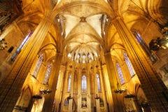 ΒΑΡΚΕΛΩΝΗ - 9 ΦΕΒΡΟΥΑΡΊΟΥ: Ο καθεδρικός ναός του ιερών σταυρού και του Sain στοκ εικόνα με δικαίωμα ελεύθερης χρήσης