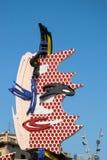 ΒΑΡΚΕΛΩΝΗ, SPAIN/EUROPE - 1 ΙΟΥΝΊΟΥ: Γλυπτό του Roy Lichtenstein στοκ φωτογραφία με δικαίωμα ελεύθερης χρήσης