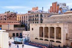 Βαρκελώνη, Ισπανία - 18 Απριλίου 2016: MACBA Museo de Arte Contemporaneo, κατώφλι Μουσείων Σύγχρονης Τέχνης Στοκ εικόνα με δικαίωμα ελεύθερης χρήσης