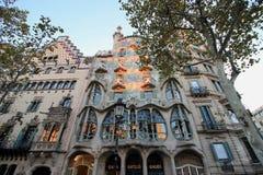 Βαρκελώνη, Ισπανία, μουσείο Casa Batllo Στοκ Φωτογραφίες