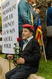 Βαρκελώνη, Ισπανία στις 10 Οκτωβρίου 2017: δήλωση ανεξαρτησίας Στοκ Φωτογραφίες