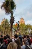 Βαρκελώνη, Ισπανία στις 10 Οκτωβρίου 2017: δήλωση ανεξαρτησίας Στοκ Φωτογραφία