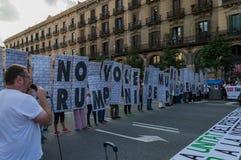 Βαρκελώνη, Ισπανία στις 10 Οκτωβρίου 2017: δήλωση ανεξαρτησίας Στοκ φωτογραφίες με δικαίωμα ελεύθερης χρήσης