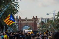 Βαρκελώνη, Ισπανία στις 10 Οκτωβρίου 2017: δήλωση ανεξαρτησίας Στοκ φωτογραφία με δικαίωμα ελεύθερης χρήσης