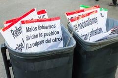 Βαρκελώνη, Ισπανία στις 12 Οκτωβρίου 2017: διαμαρτυρία ενάντια στον εορτασμό της ανακάλυψης της Αμερικής Στοκ Εικόνα
