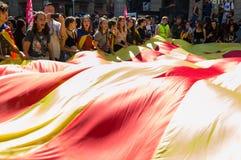 Βαρκελώνη, Ισπανία, στις 27 Οκτωβρίου 2017, ογκώδεις φοιτητές πανεπιστημίου απεργίας στοκ εικόνα
