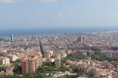 Βαρκελώνη, Ισπανία στις 3 Σεπτεμβρίου 2018: Ένα Panomara από την αποθήκη της Carmel στοκ φωτογραφία
