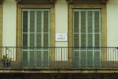 Βαρκελώνη, Ισπανία στις 3 Σεπτεμβρίου 2018: Διεύθυνση Λα Rambla σε ένα μπαλκόνι στοκ εικόνες με δικαίωμα ελεύθερης χρήσης