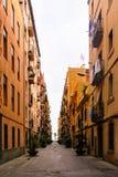 Βαρκελώνη, Ισπανία στις 4 Σεπτεμβρίου 2018: Μια άποψη ενός Barceloneta Carrer στοκ φωτογραφία