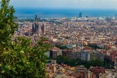 Βαρκελώνη, Ισπανία στις 3 Σεπτεμβρίου 2018: μια άποψη της Βαρκελώνης από την επαρχία στοκ φωτογραφίες