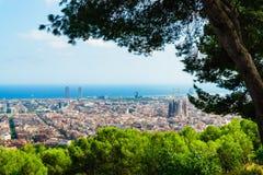Βαρκελώνη, Ισπανία στις 3 Σεπτεμβρίου 2018: Μια άποψη της χαοτικής Βαρκελώνης από την επαρχία στοκ φωτογραφία με δικαίωμα ελεύθερης χρήσης