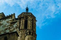 Βαρκελώνη, Ισπανία στις 6 Σεπτεμβρίου 2018: Ο πύργος κουδουνιών Catedral de Λα Santa Cruz Υ Santa Eulalia στοκ εικόνες