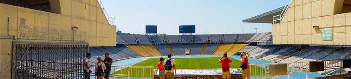 Βαρκελώνη, Ισπανία στις 4 Σεπτεμβρίου 2018: Πανόραμα του σταδίου Ολυμπιακών Αγώνων στοκ εικόνα