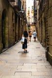 Βαρκελώνη, Ισπανία στις 6 Σεπτεμβρίου 2018: Σπασμός ² Barri GÃ και οι τουρίστες στοκ εικόνα με δικαίωμα ελεύθερης χρήσης