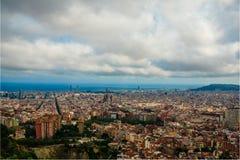 Βαρκελώνη, Ισπανία στις 3 Σεπτεμβρίου 2018: Σύννεφα επάνω από τη Βαρκελώνη στοκ εικόνα με δικαίωμα ελεύθερης χρήσης