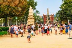 Βαρκελώνη, Ισπανία στις 5 Σεπτεμβρίου 2018: Arc de Triomf στοκ φωτογραφία με δικαίωμα ελεύθερης χρήσης