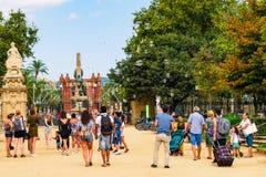 Βαρκελώνη, Ισπανία στις 5 Σεπτεμβρίου 2018: Arc de Triomf στοκ φωτογραφίες