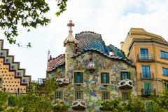 Βαρκελώνη, Ισπανία στις 6 Σεπτεμβρίου 2018: Casa Battlà ² από την οδό στοκ φωτογραφία