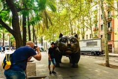 Βαρκελώνη, Ισπανία στις 3 Σεπτεμβρίου 2018: EL Gato de Botero στοκ εικόνα