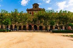Βαρκελώνη, Ισπανία στις 5 Σεπτεμβρίου 2018: Parlamento de Cataluña στοκ φωτογραφία με δικαίωμα ελεύθερης χρήσης