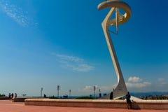 Βαρκελώνη, Ισπανία στις 4 Σεπτεμβρίου 2018: Torre de telecomunicaciones de Montjuïc στοκ εικόνες