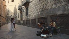 Βαρκελώνη, Ισπανία - το Σεπτέμβριο του 2018 Ιστορικό κέντρο του γοτθικού τετάρτου πόλεων απόθεμα βίντεο
