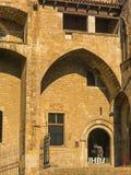 Βαρκελώνη: μεσαιωνικό Παλάου Reial Royal Palace στα καταλανικά σε Pla Στοκ εικόνες με δικαίωμα ελεύθερης χρήσης