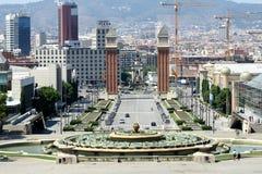 Βαρκελώνη - ενετικοί πύργοι Στοκ φωτογραφίες με δικαίωμα ελεύθερης χρήσης
